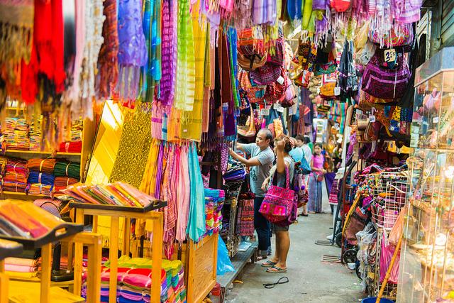 Street shopping in Bangkok, Thailand