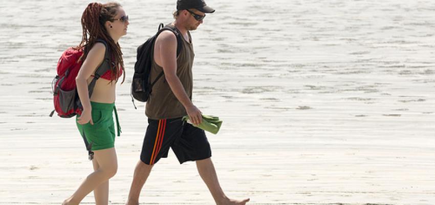 Thailand Tourists in beach