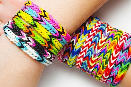 Wristbands in multi-color hues